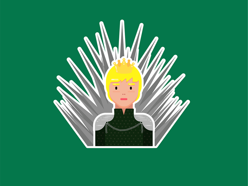 cersei on the iron throne vector stark cersie cersielannister pink needle illustrator illustration icons girl gameofthrons flat design character cartoon avatar arya adobe