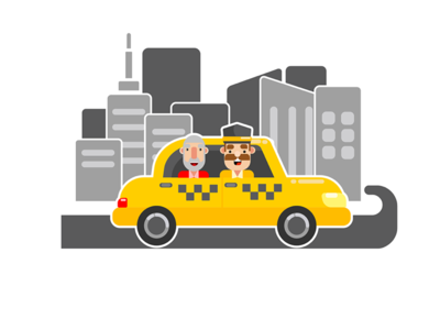 Taxi booking illustration