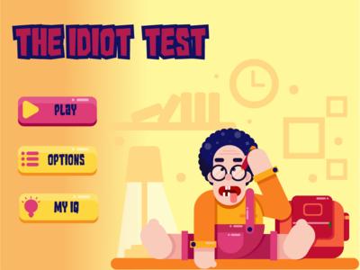 Flat illustration game menu
