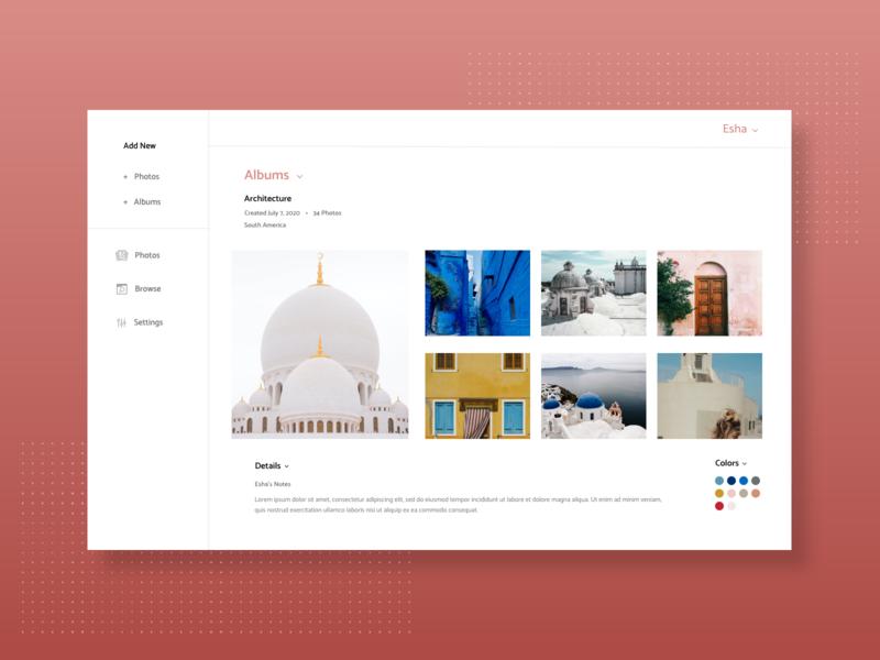 Daily UI - Photo Album digital marketing dailyui dailyuichallenge ui graphic  design design