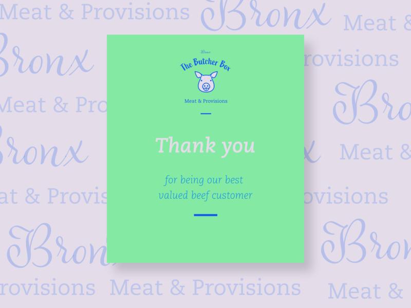 Thank You Card For a Butcher Shop branding typography illustration digital marketing graphic  design design