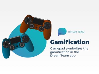 Gamification Illustration for Dreamteam website