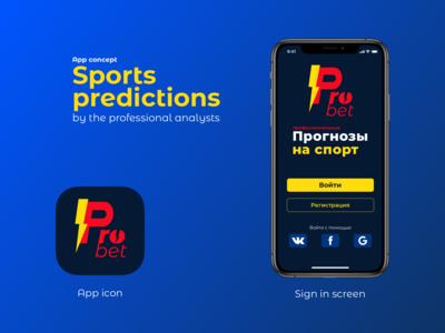 ProBet – sports predictions service