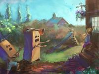 Robot children s illustration
