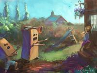 Robot Children's Illustration
