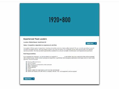 Desktop Recruitment Dribbble service business smallbiz homepage wordpress website