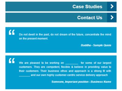 Mobile   Testimonials Dribbble service business smallbiz homepage wordpress website