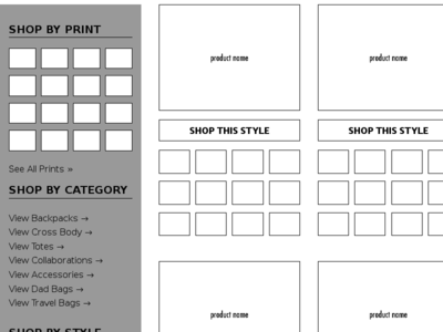 WireFrame for new Fashion concept Early 2017 - First Draft wireframe responsive jekyll prototype