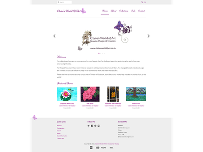 Claire's World of Art [Shopify] shopify artist e-commerce