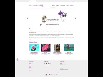 Claire's World of Art [Shopify] shopify artist e-commerce