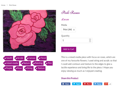 Pink Roses Shot Thumb shopify ecommerce tags ui product