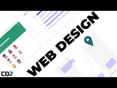 Web Design Angled Cover website floating wireframe elements angled gimp