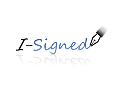 isigned logo old-work digital-signature logo
