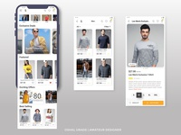 E-commerce Mobile App UI