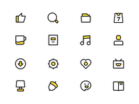 Yellow linear Icon