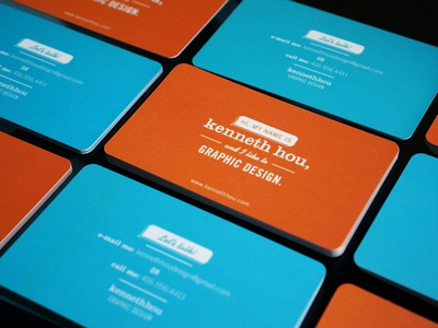 Personal Business Card business card personal business card graphic design graphic design lets talk speech bubble colorful reverse promo