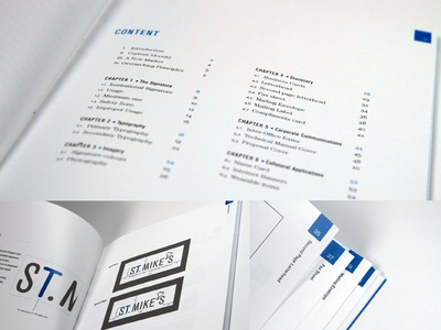 St. Mike's Hospital Corporate Identity Mock Rebrand Details hospital corporate identity corporate id mock rebrand business card identity id hats shirts typography brand guide branding table of contents pagination logo wordmark