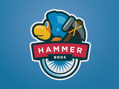 Team Logo sports logo flat ultimate frisbee hammer bros hambros mario