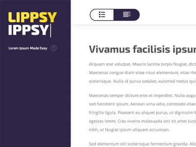 Lippsy Ippsy lorem ipsum preview