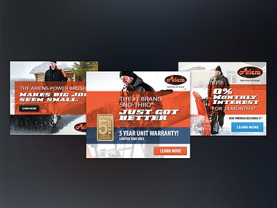 Winter Ads snow blower orange ariens winter ads