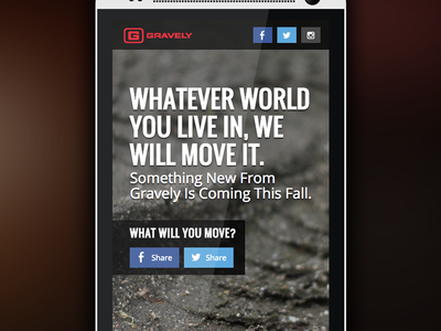 Gravely Teaser Site gravely teaser site new product