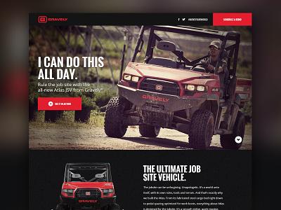Gravely Atlas gravely atlas new product utv site microsite tough vehicle