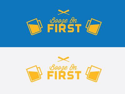 Softball team Logo Idea booze on first beer softball baseball