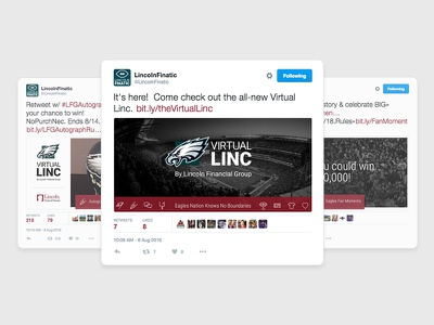 Virtual Linc on Twitter promotion tweets football eagles twitter