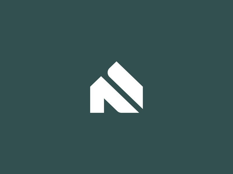 House + N Logo logo design clean minimalist branding n n logo home house logo house logo
