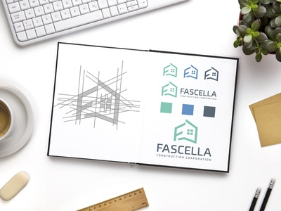 F + Home logo design