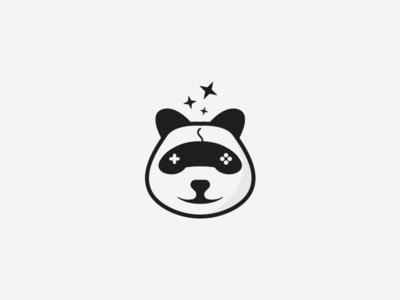 Panda game logo concept
