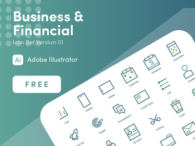 Business & Financial Icon Free