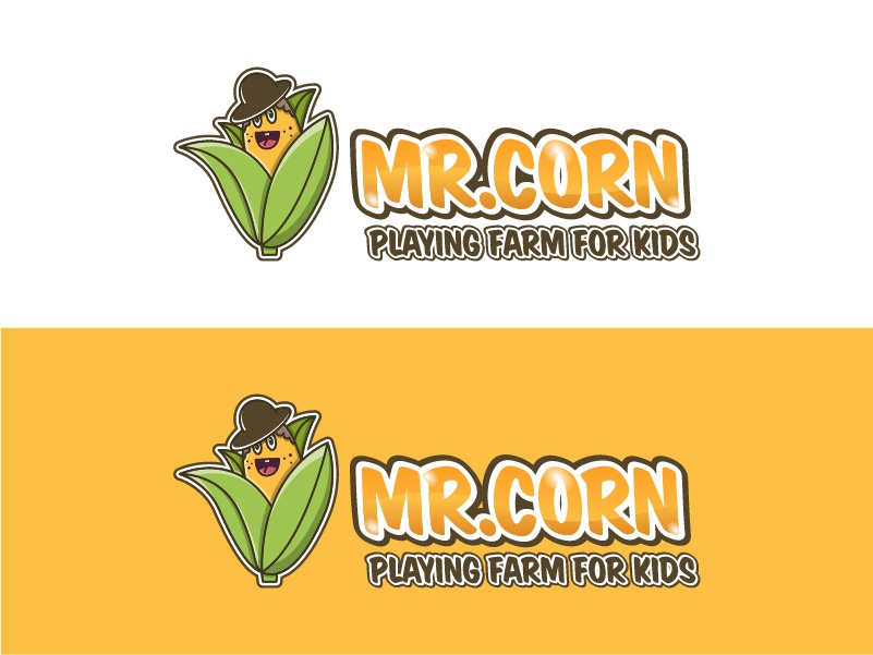 corn cartoon logo design by al ghaniy on dribbble corn cartoon logo design by al ghaniy