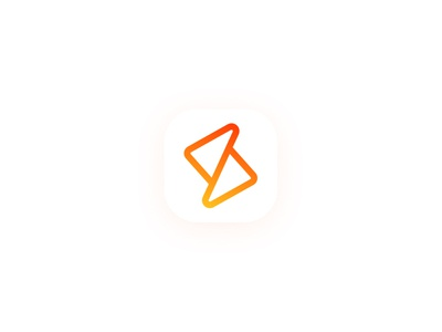 S and Triangle Logo Design