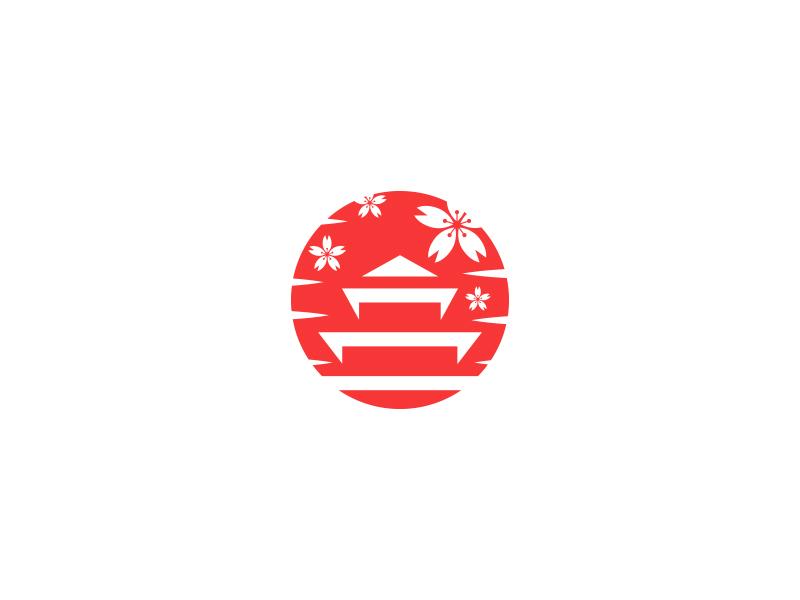 Japanese temples logo design by Al-Ghaniy on Dribbble
