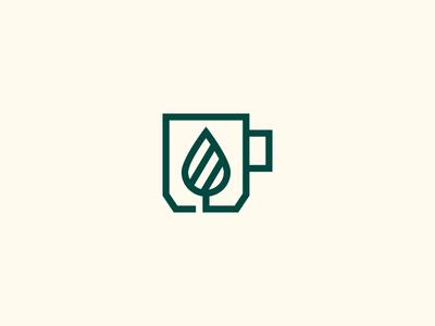 Tea and Mug Logo Design