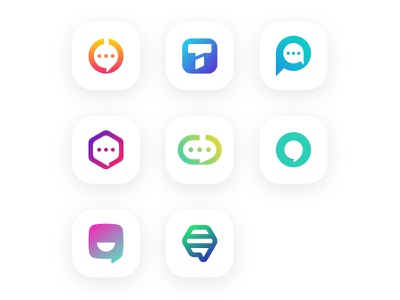 Bubble Chat Collection app app icon bubble chat chat logo icon graphic design branding simple logo modern logo clean logo logo design logo