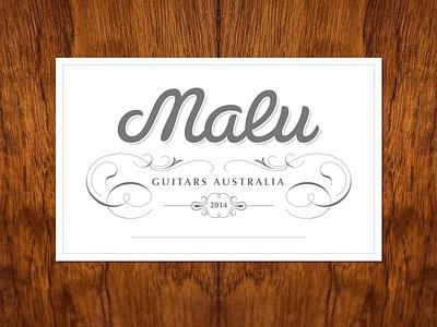 Malu Guitars Label pen strokes guitar