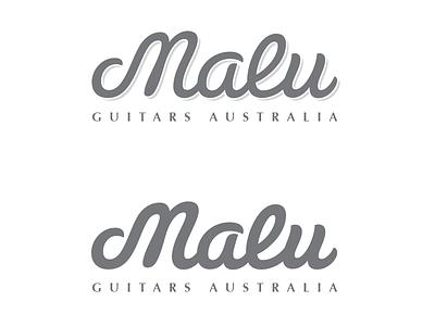 Malu Logo malu guitars susa bold