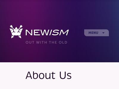 Newnewism purple newism site logo navigation