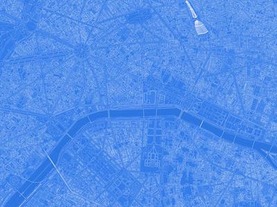 Blueprinted cartocss vector tiles cyanotype blueprint cartography map