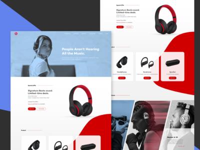 Redesign Beats website
