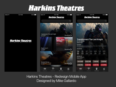Harkins Theatres - App Redesign
