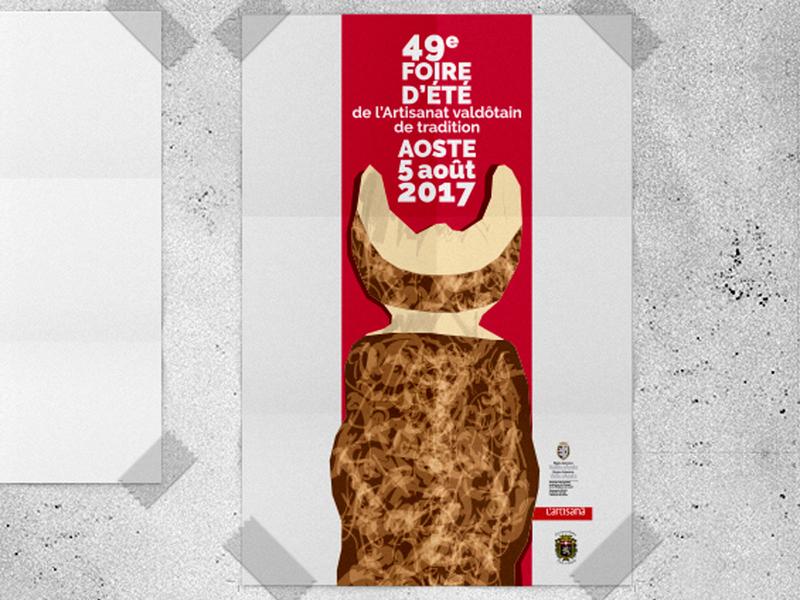 Foire 2017 proposal unused concept contest poster design