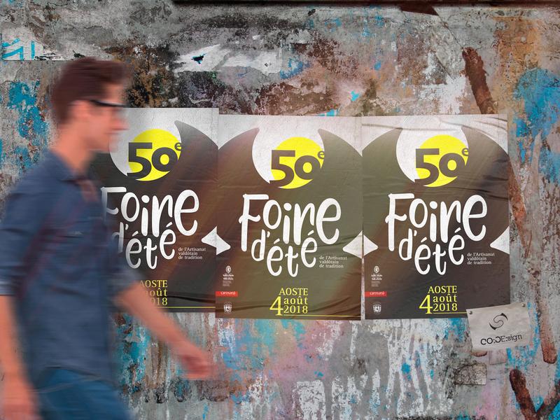 Foire 2018 proposal unused concept contest poster design