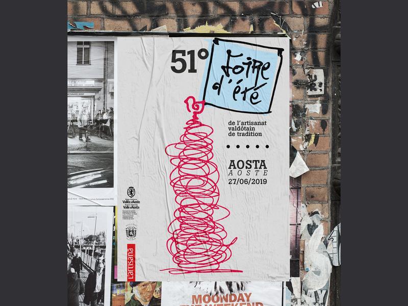 Foire 2019 proposal unused concept contest poster design