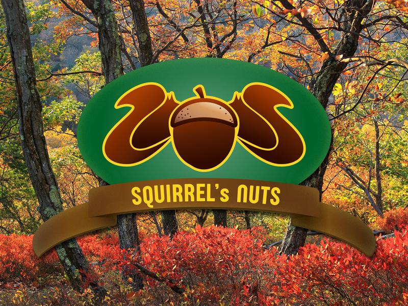 Squirrel's nuts logo design for fun