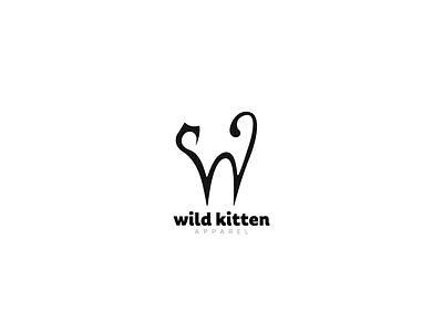 Wild kitten apparel logo made for fun logo