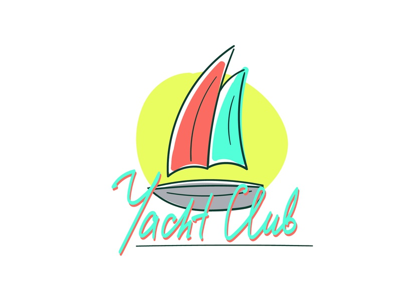 Logo for yacht club ui yacht club logo dribbble vector solopovdesign illustrator illustration design