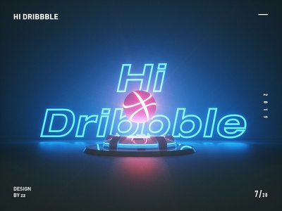 Hi Dribbble2 hi dribbble 品牌 插图 图标 游戏 ux 设计 ui